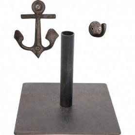 Soporte y percha marinera para remo