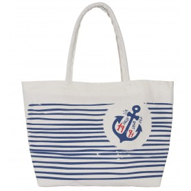 "Bolso canvas tote ""Sea Land"" Mercader del mar"