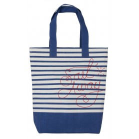 "Bolsa de mano canvas ""Sail away"" Mercader del mar"