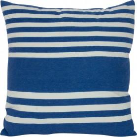 Cojín azul y blanco a rayas Mercader del mar