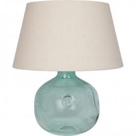 Lámpara azul estilo marinero con ancla grabada Mercader del mar