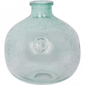 Botella azul estilo marinero con ancla grabada Mercader del mar