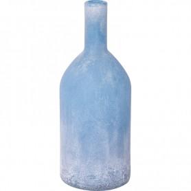 Botella esmerilada azul de estilo vintage marinero Mercader del mar