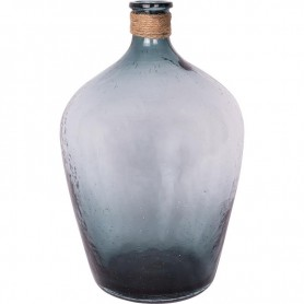 Botella translúcida azul con cabo estilo marinero Mercader del mar