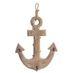 Ancla marinera de madera vintage Mercader del mar