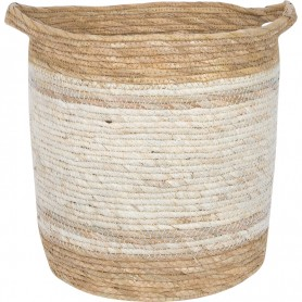 Cesta náutica bicolor fibra natural