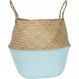 Juego de cestas de mimbre de fibra natural pintado El mercader del mar