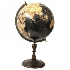 Globo terrestre decorativo negro y dorado Mercaderdelmar.com