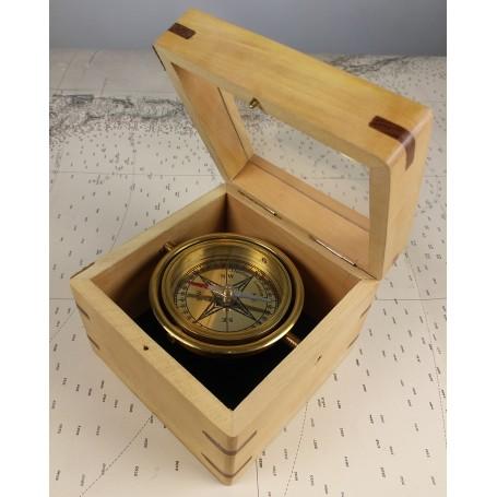Brújula marinera con caja