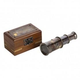 Catalejo náutico con caja de palisandro