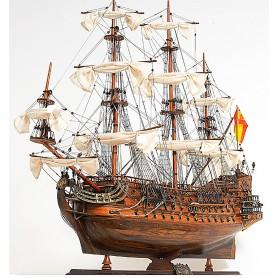 Maqueta de barco Galeón español San Felipe