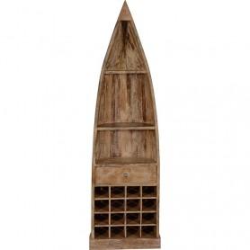 Estantería con botellero 'El Mercader del mar' para decoración náutica y marinera
