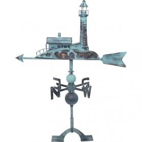 Veleta marinera 'faro' en el mercader del mar para decoración náutica y marinera