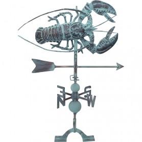Veleta marinera 'langosta' en el mercader del mar para decoración náutica y marinera