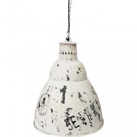 Lámpara marinera de techo de metal blanca en elmercaderdelmar.com para una decoración náutica y marinera