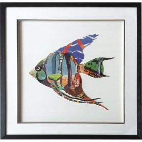 Cuadro marinero pez idolo en el mercader del mar para decoración náutica y marinera