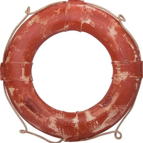 Salvavidas marinero 'mercader rojo vintage' en el mercader del mar  para una decoración náutica y marinera