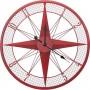 Reloj marinero de pared con rosa de los vientos en el mercader del mar para decoración náutica y marinera