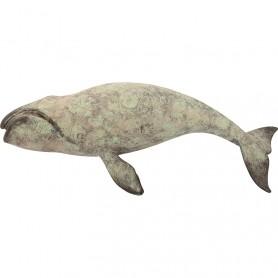 Figura marina decorativa de ballena en elmercaderdelmar.com para una decoración náutica y marinera