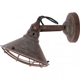 Lámpara aplique náutico metálica en el mercaderdelmar.com para decoración náutica y marinera