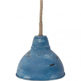 Lámpara marinera de techo de metal azul en elmercaderdelmar.com para una decoración náutica y marinera