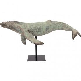 Figura decorativa marina de ballena en elmercaderdelmar.com para una decoración náutica y marinera