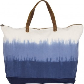 Bolso canvas azul y blanco de estilo degradado