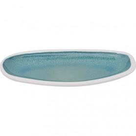 Bandeja turquesa de cerámica
