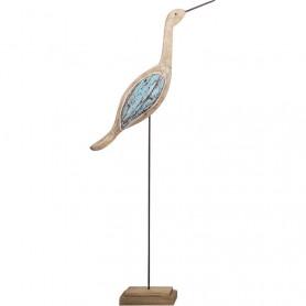 Figura marinera de pájaro sobre peana en elmercaderdelmar.com