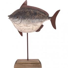 Pescado de madera decoración marina