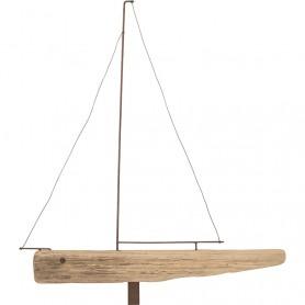 Figura velero de navegación decorativo