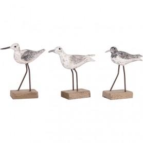 Figura decorativa pájaros náuticos con pie