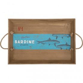 Bandeja náutica decorativa sardinas