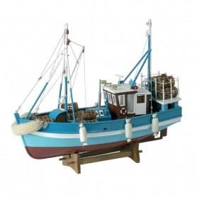 Maqueta de barco pesquero para decoración náutica
