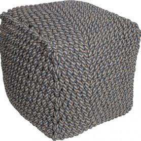 Puf náutico ornamental cuerda