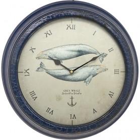 Reloj ornamental ballenas