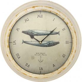Reloj artesano marino ballenas