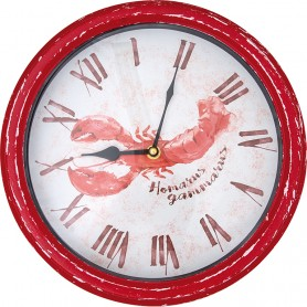 Reloj decorativo marino langosta
