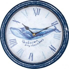 Reloj artesano ballena marina