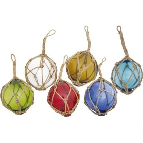Boya de pesca en cristal para decoración marinera