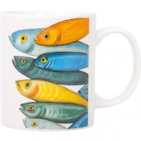 Mug decoración marinera peces de colores