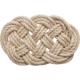 Salvamanteles cuerda de cáñamo