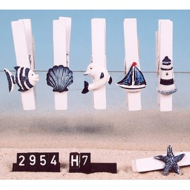 Pinzas náuticas para decoración marinera