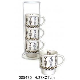 Mugs marineros cerámica para la decoración náutica