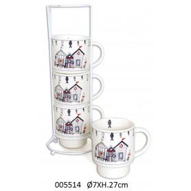 Mugs náuticos cerámica para la decoración marinera