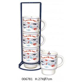 Mugs marineros peces de colores para la decoración náutica