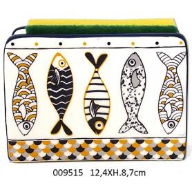 Servilletero náutico de cerámica para decoración marinera