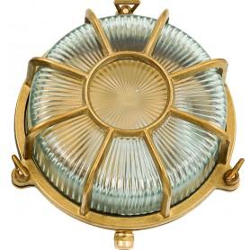 Lámpara marinera en latón para decoración náutica