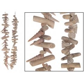 Guirnalda náutica madera reflotada y conchas