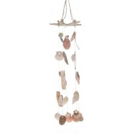 Guirnalda de conchas para decoración marinera
